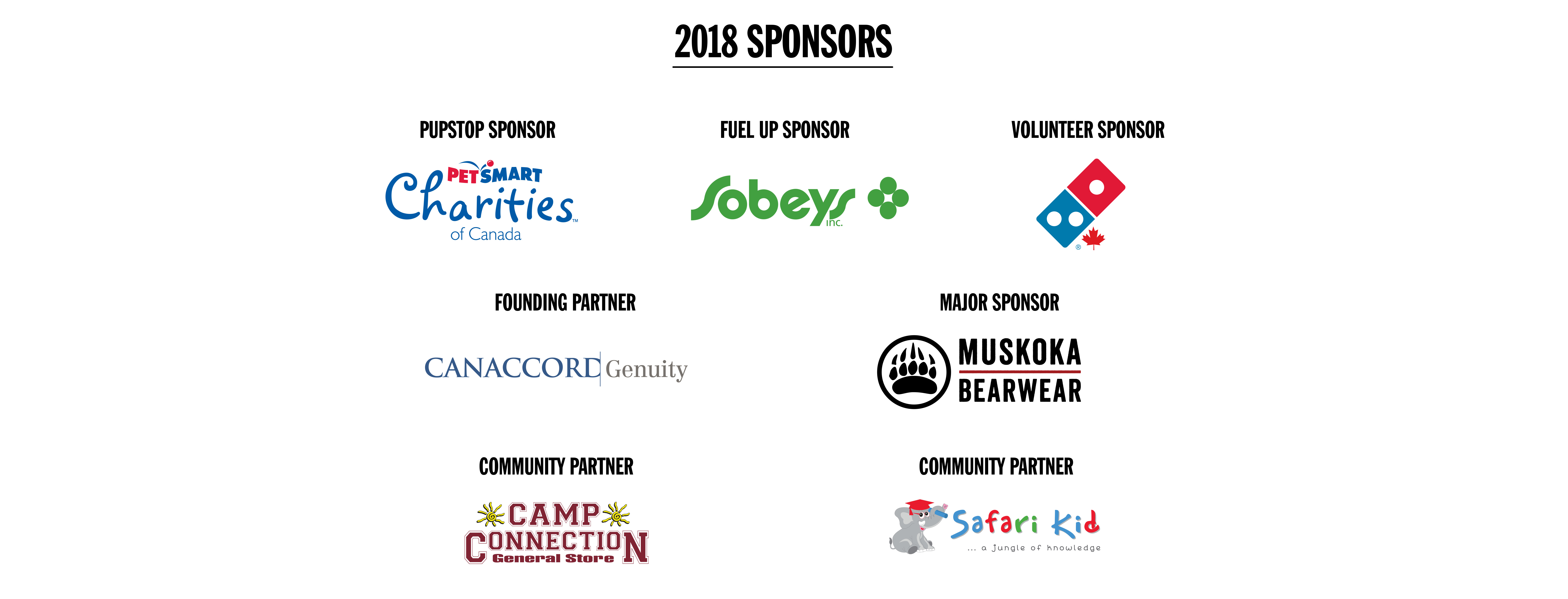 2018 Walk for SickKids sponsors