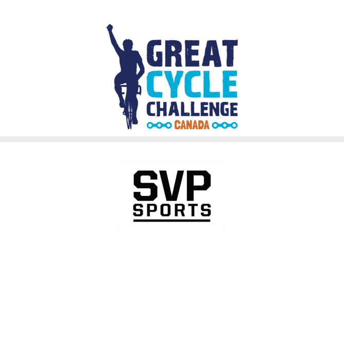 Great Cycle Challenge and SVP Sports logos