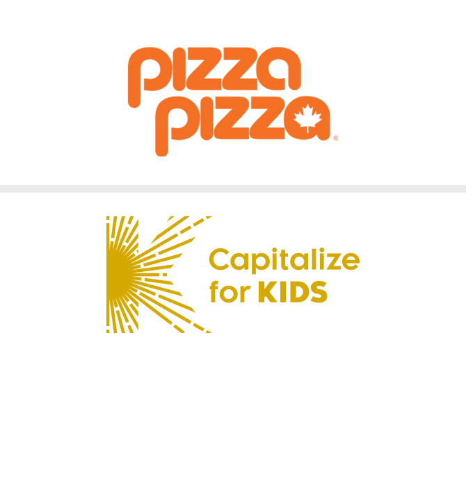Pizza Pizza and Capitalize for Kids Logos