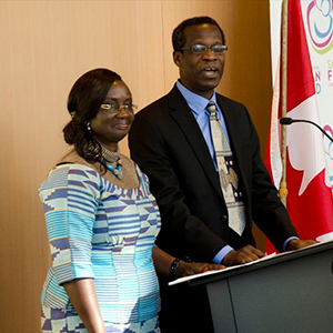 Drs. Isaac Odame and Jemima Dennis-Antwi