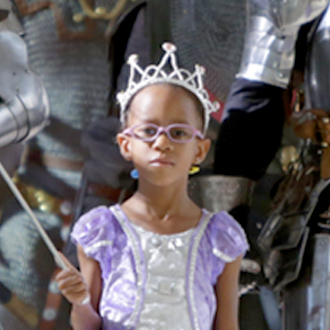 SickKids patient wearing crown and dress
